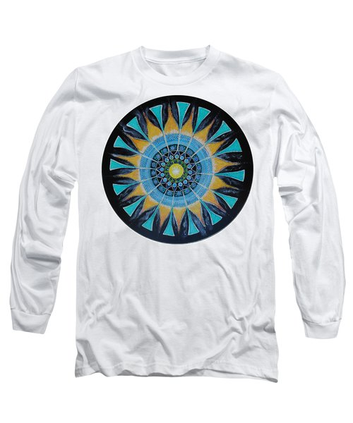 Long Sleeve T-Shirt featuring the painting The Soul Mandala by Patricia Arroyo