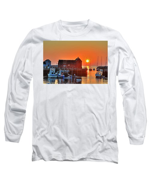 The Sun Rising By Motif Number 1 In Rockport Ma Bearskin Neck Long Sleeve T-Shirt