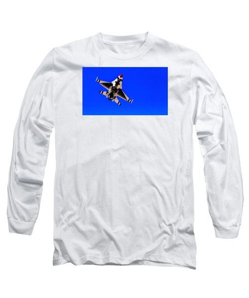 Long Sleeve T-Shirt featuring the photograph The Team Usaf Thunderbirds by Michael Rogers