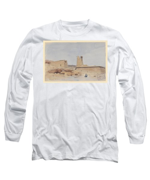 The Temple Of Dendur Showing The Pylon And Terrace Long Sleeve T-Shirt