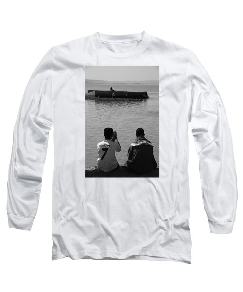 Long Sleeve T-Shirt featuring the photograph The Thoughts Of Mermaids  by Jez C Self