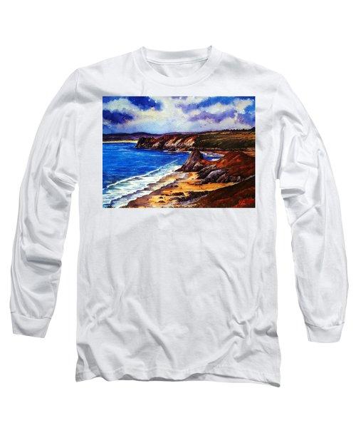 The Three Cliffs Bay Long Sleeve T-Shirt