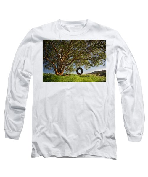 The Tire Swing Long Sleeve T-Shirt by Endre Balogh