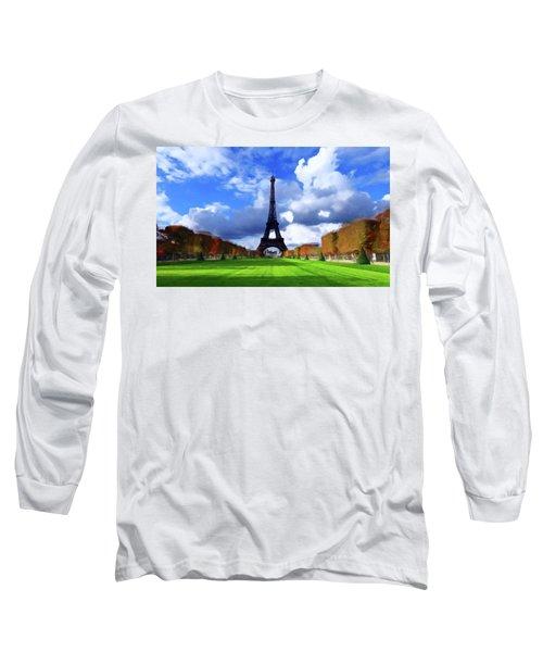 The Tower Paris Long Sleeve T-Shirt by David Dehner