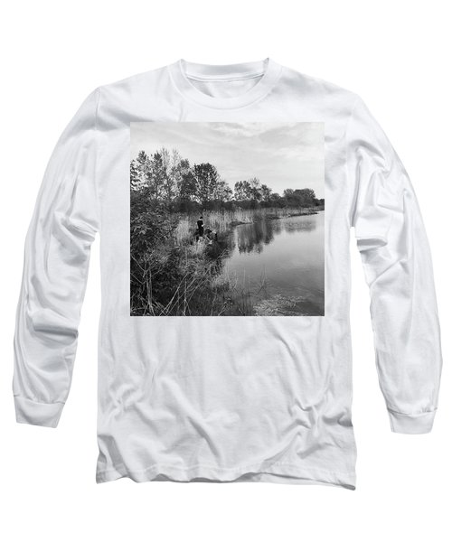 Moving The Water Long Sleeve T-Shirt by Frank J Casella
