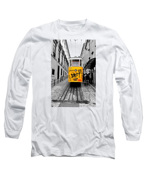Long Sleeve T-Shirt featuring the photograph The Tram by Marwan Khoury