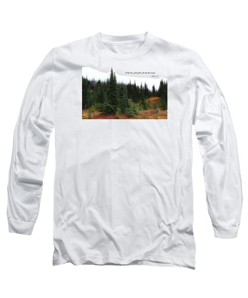Long Sleeve T-Shirt featuring the photograph The Trees by Lynn Hopwood