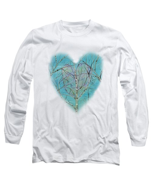 Long Sleeve T-Shirt featuring the painting The Trees Speak To Me In Whispers by Deborha Kerr