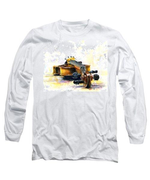 The Violin Long Sleeve T-Shirt by John D Benson