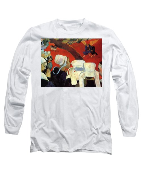 The Vision After The Sermon Jacob Wrestling With The Angel 1888 Long Sleeve T-Shirt