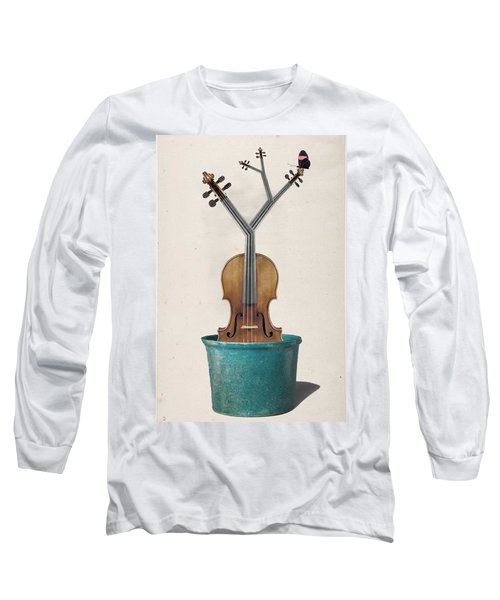 The Voilin Plant Long Sleeve T-Shirt by Keshava Shukla