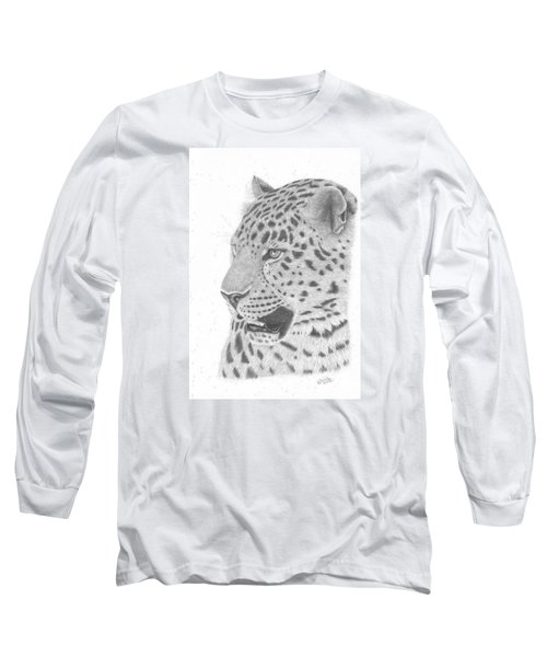 The Watchful Leopard Long Sleeve T-Shirt by Patricia Hiltz