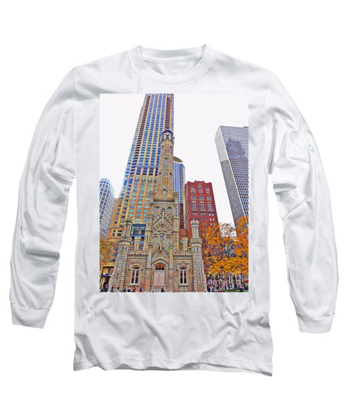 The Water Tower In Autumn Long Sleeve T-Shirt