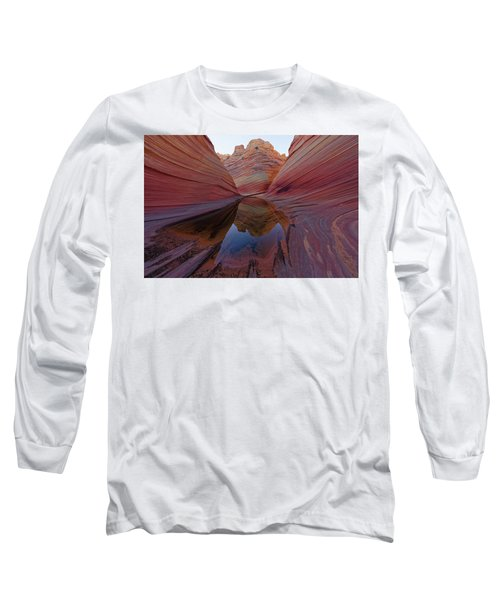 Long Sleeve T-Shirt featuring the photograph The Wave Reflection by Jonathan Davison
