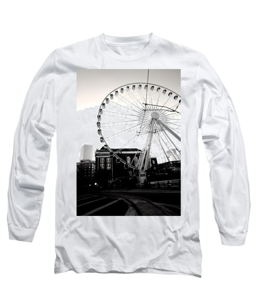 The Wheel Black And White Long Sleeve T-Shirt