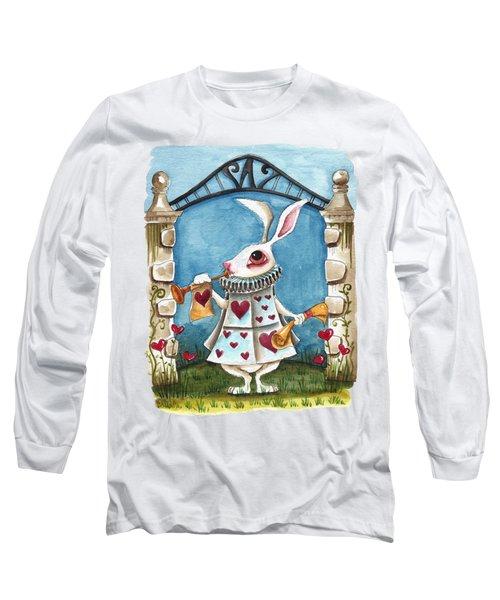 The White Rabbit Announcing Long Sleeve T-Shirt