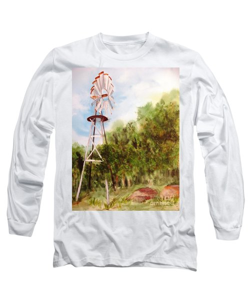 The Windmill  Long Sleeve T-Shirt by Vicki  Housel
