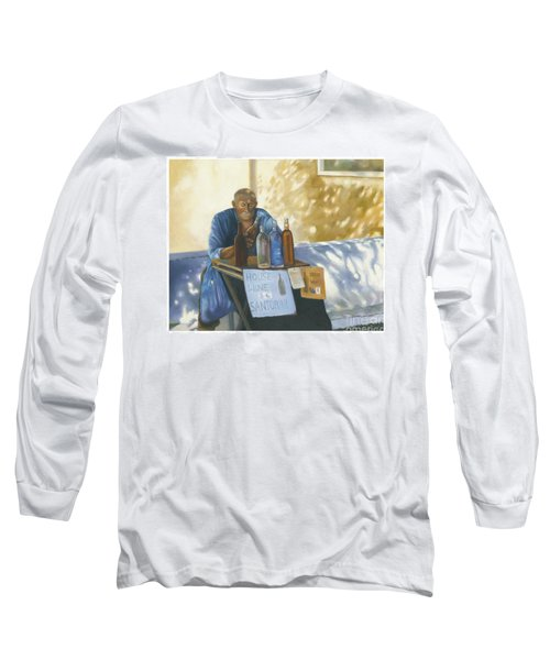 Long Sleeve T-Shirt featuring the painting The Wineseller by Marlene Book