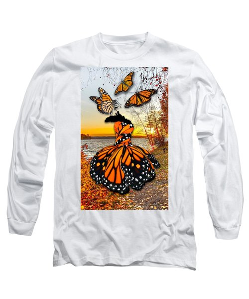 Long Sleeve T-Shirt featuring the mixed media The Wonder Of You by Marvin Blaine