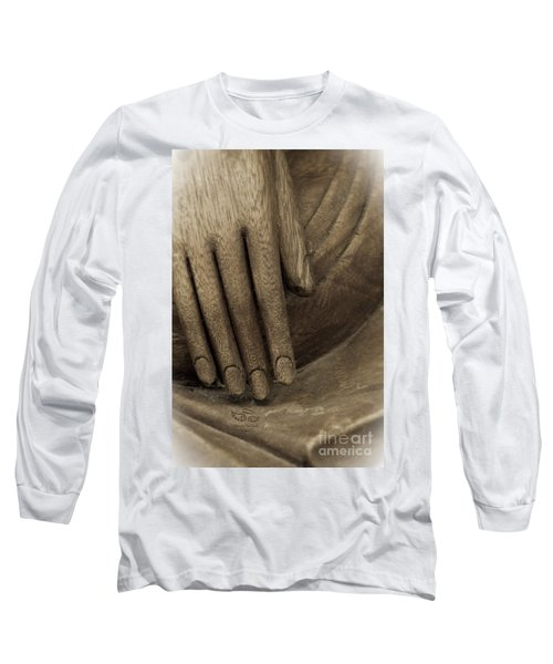The Wooden Hand Of Peace Long Sleeve T-Shirt