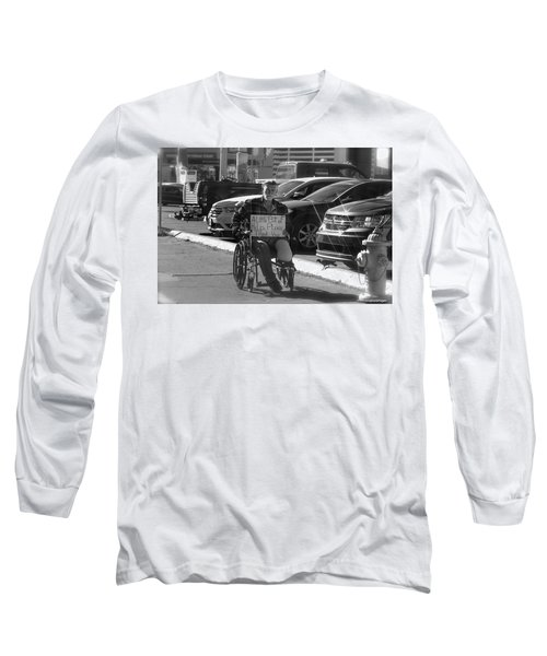 Long Sleeve T-Shirt featuring the photograph The World Is A Ghetto by Michael Rogers