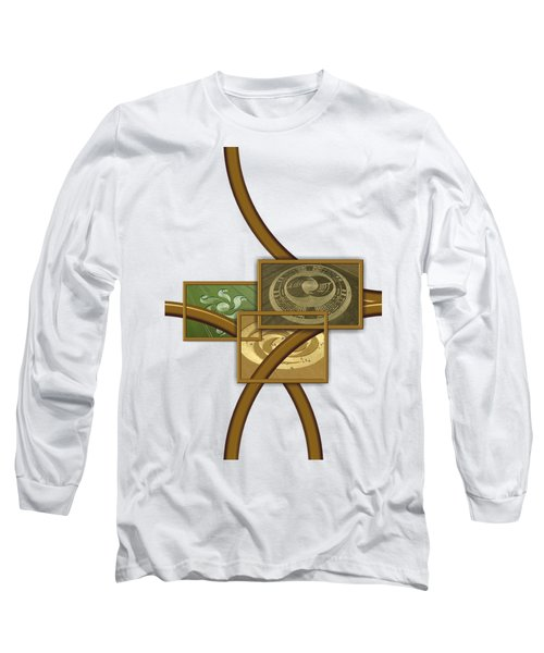 The World Of Crop Circles By Pierre Blanchard Long Sleeve T-Shirt by Pierre Blanchard