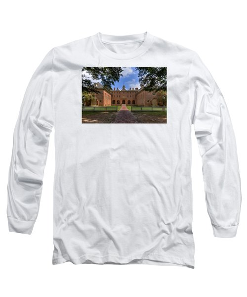 The Wren Building At William And Mary Long Sleeve T-Shirt