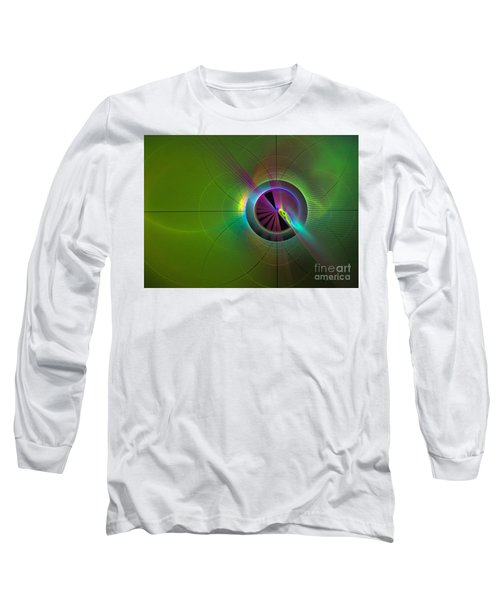 Theory Of Green - Abstract Art Long Sleeve T-Shirt