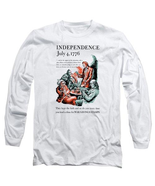 They Kept The Faith - Ww2 Long Sleeve T-Shirt
