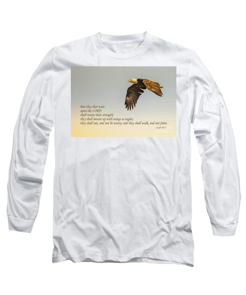 They That Wait Upon The Lord Long Sleeve T-Shirt by John Roberts