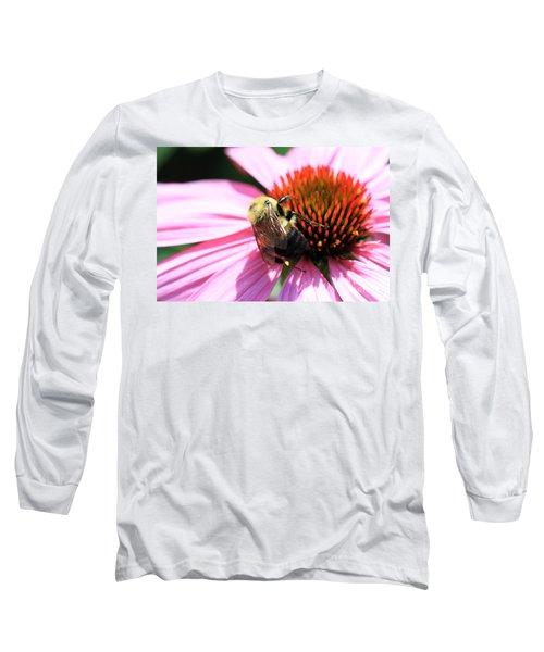 Think Bees Long Sleeve T-Shirt by Paula Guttilla