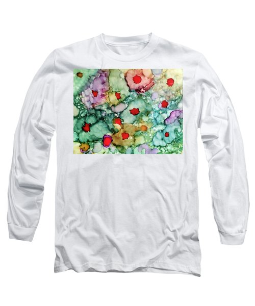 Long Sleeve T-Shirt featuring the painting Think Spring by Denise Tomasura