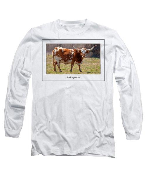 Think Vegetarian Long Sleeve T-Shirt