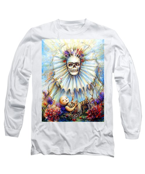 Long Sleeve T-Shirt featuring the painting Thinking About Life by Heather Calderon