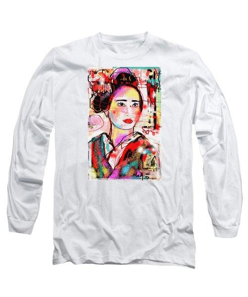 Long Sleeve T-Shirt featuring the digital art Third Generation  by Sladjana Lazarevic