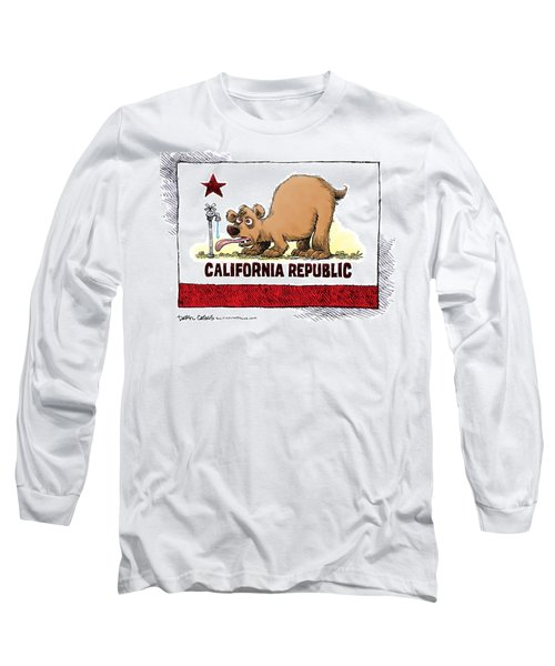 Thirsty California Flag Long Sleeve T-Shirt
