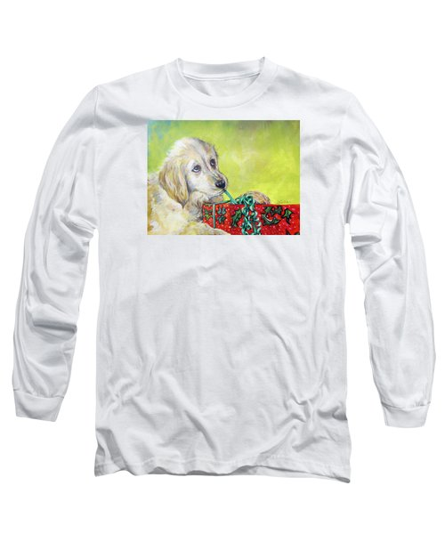 Long Sleeve T-Shirt featuring the painting This Is Mine? Right? by Donna Tucker