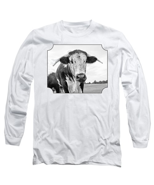 This Is My Field - Black And White Long Sleeve T-Shirt