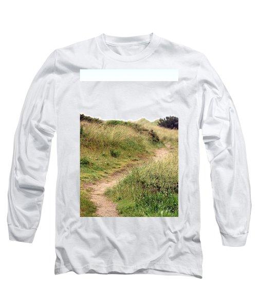 This Way To The Beach Long Sleeve T-Shirt by Joseph Skompski