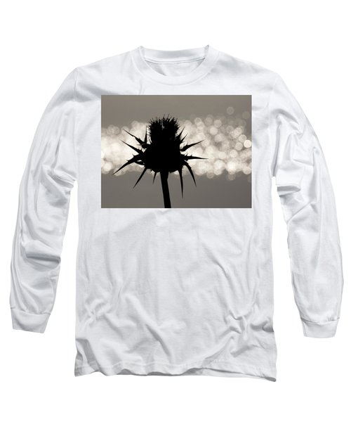 Thistle Silhouette - 365-11 Long Sleeve T-Shirt by Inge Riis McDonald