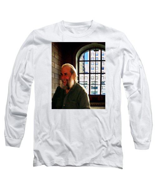 Long Sleeve T-Shirt featuring the photograph Thom At The Library by Timothy Bulone
