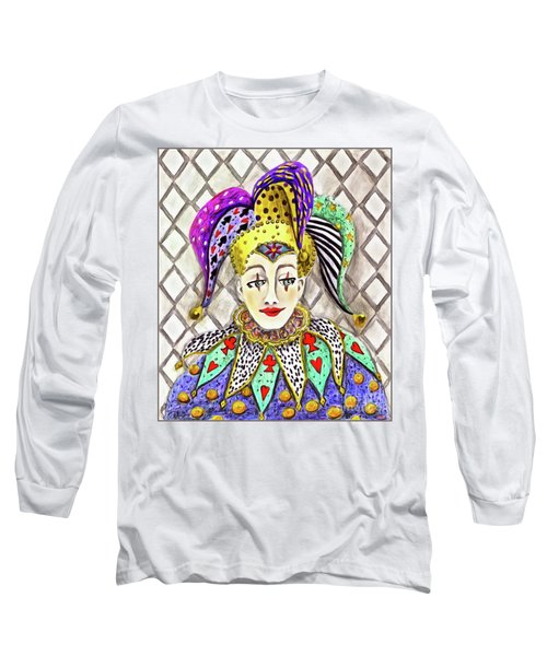 Thoughtful Jester Long Sleeve T-Shirt
