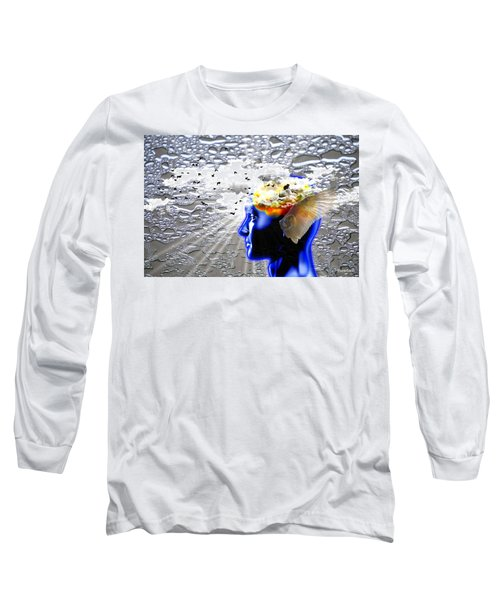 Thougths Are Like Birds Long Sleeve T-Shirt by Paulo Zerbato