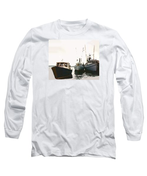 Long Sleeve T-Shirt featuring the photograph Three Boats by Walter Chamberlain