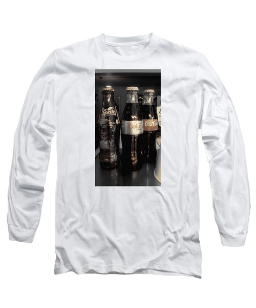 Long Sleeve T-Shirt featuring the photograph Three Bottles Full by Saad Hasnain
