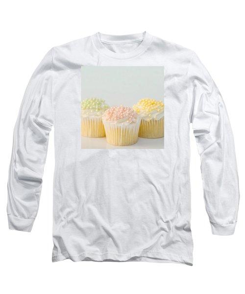 Three Cupcakes Long Sleeve T-Shirt