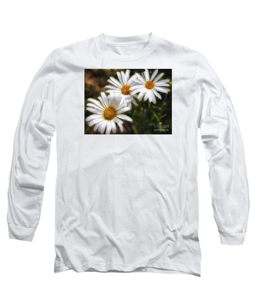 Long Sleeve T-Shirt featuring the photograph Three Flowers  ... by Chuck Caramella
