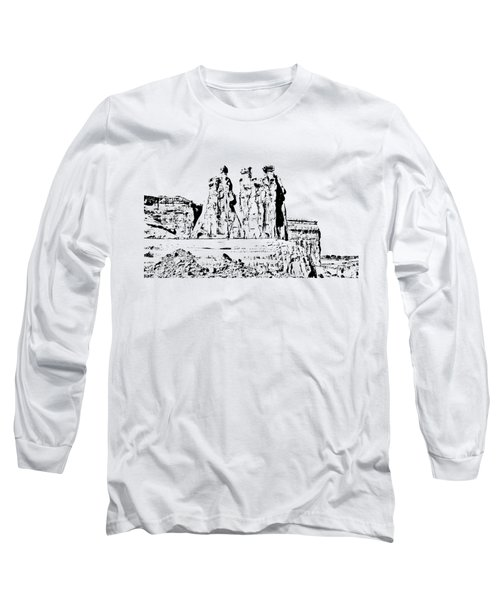 Three Gossips Drawing Long Sleeve T-Shirt