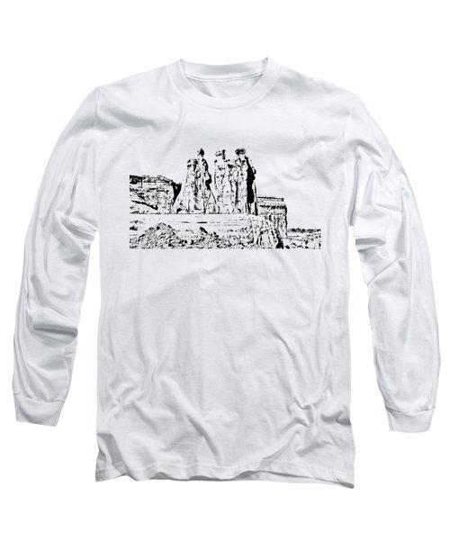 Three Gossips Drawing Long Sleeve T-Shirt
