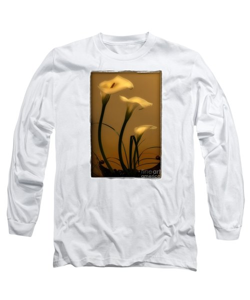 Three Lilies Long Sleeve T-Shirt by Linda Olsen